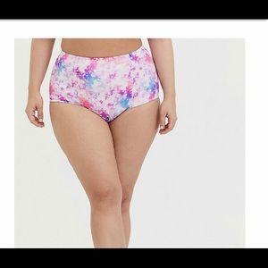 Nwt torrid size 3 bathing suit bottom tie dye